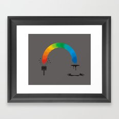 magic brush Framed Art Print