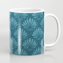Art Nouveau,Teal,metallic,art deco, fan pattern,chic,vintage,victorian,belle epoque,trendy,modern,elegant Coffee Mug