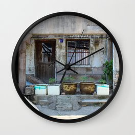 Abandonned Chinese House Wall Clock