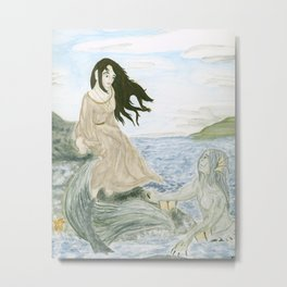 The Lady and the Merman Metal Print