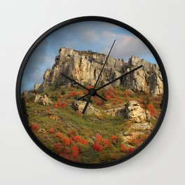 Rock Outcropping in the fall Wall Clock