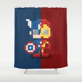 Civil Pixel War Shower Curtain