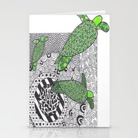 turtles Stationery Cards featuring Turtles by Kandus Johnson