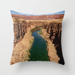 Colorado_River, Marble_Canyon-4, Arizona Throw Pillow