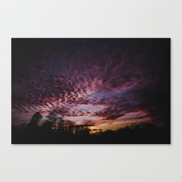 Breathtaking Sunset Landscape Canvas Print