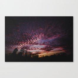 Breathtaking Sunset Landscape Canvas Print