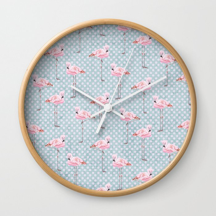 Flim Flam Flamingo Wall Clock