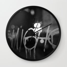 Paris Graphity Wall Clock