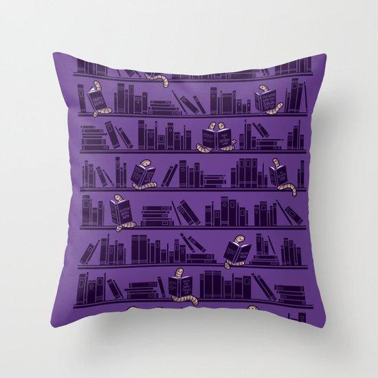 Bookworms Throw Pillow