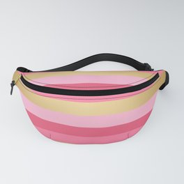 Pink and Gold Stripes Fanny Pack
