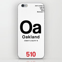 Oakland City Poster iPhone Skin