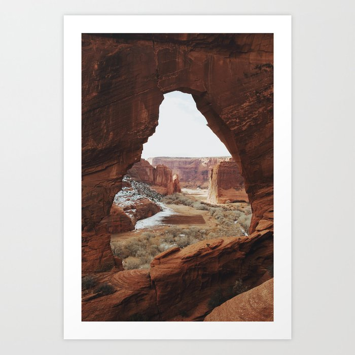 Window Rock Art Print