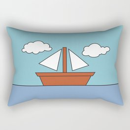 Simpsons Living Room Boat Picture Rectangular Pillow