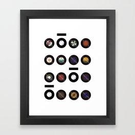 Domio Keyhole Vinyls Framed Art Print