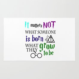 not is born grow to be harry potters Rug