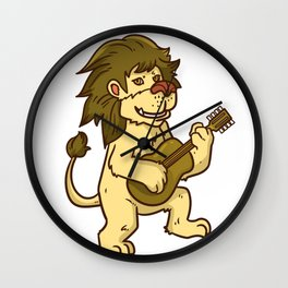 Guitar Lion Wall Clock