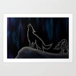 Crying with the Wolves Art Print