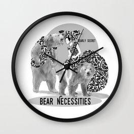 Bear Necessities #1 Bearly Secret Wall Clock