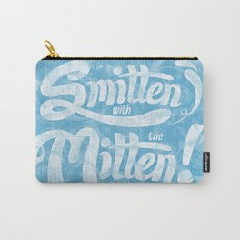 Smitten with the Mitten (Blue Version) Carry-All Pouch