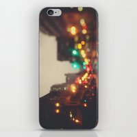 portland iPhone & iPod Skins featuring Portland In The Rain by Laura Ruth