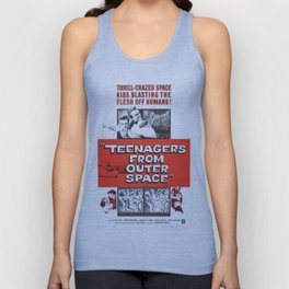 Vintage Classic Movie Posters, Teenagers From Outer Space Unisex Tank Top