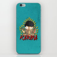 karma iPhone & iPod Skins featuring Karma by Seez