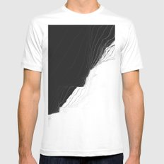 Pulse White Mens Fitted Tee MEDIUM