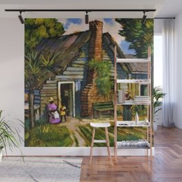 African American Portrait 'A Man's Home is his Castle' by J. Andre Smith Wall Mural