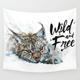 Lynx Wild and Free Wall Tapestry