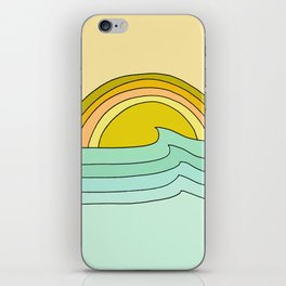 ride rainbows // retro surf soul // art by surfy birdy iPhone Skin