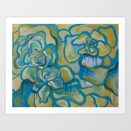 Bleeding Flowers Art Print