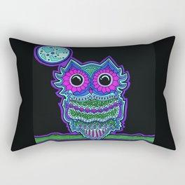 Purple Owl Rectangular Pillow