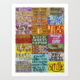 Rules Of Life Art Print
