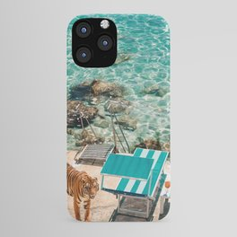 Beach Tiger iPhone Case