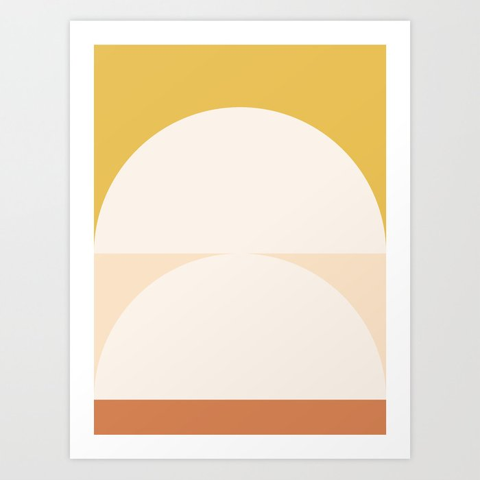 Abstract Geometric 01 Art Print