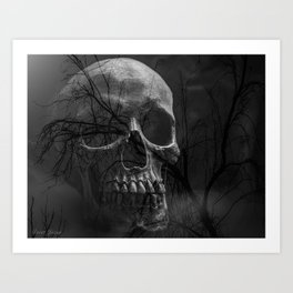 BRANCHED SKULL Art Print