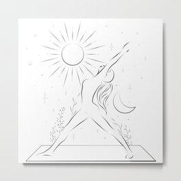 Finding balance trough yoga Metal Print