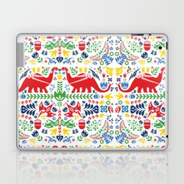 Swedish Folk Art Dinosaurs Laptop & iPad Skin
