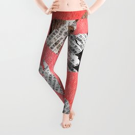 Newspaper LOVE Leggings