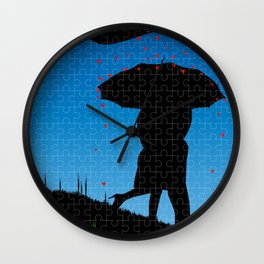 Love Jigsaw Wall Clock