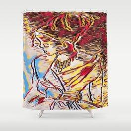 Yapah Girl Shower Curtain