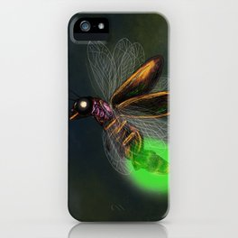 Dragonfly light bulb iPhone Case