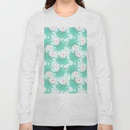 Fern-tastic Girls in Teal Long Sleeve T-shirt