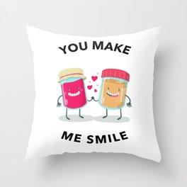 Jam And Peanut Butter Throw Pillow