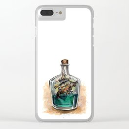 Ship in a bottle Clear iPhone Case
