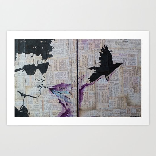 Bob Dylan: Like A Crow Art Print