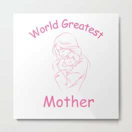 World Greatest Mother Metal Print