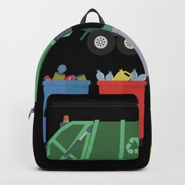 Garbage Truck Kids Trash Recycling Backpack