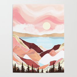 Autumn Lake Sunrise Poster