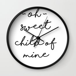Sweet Child of Mine Wall Clock
